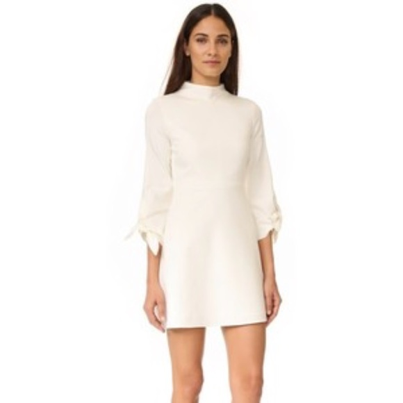 d3410c25559aa New Tibi bond stretch knit tie sleeve dress size 2